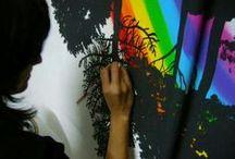 Murales pintados / Vinilos / Decoracion de paredes.  Murales pintados a mano, aplicaciones de vinilos, papel pintado... / by Namero Nanuo