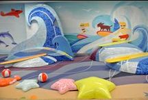 LAX Beach Children's Play Area Opens / Who wants to go to the beach?! Welcome to LAX Beach, kids – a new play area at LAX! Kids can have fun climbing, crawling, running, and interacting on soft, sculpted foam pieces like waves, surfboards, beach toys and sea life before their flight. Find in the New TBIT Great Hall.
