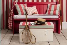 Barker & Barker Striped Fabrics / A collection of our various Striped fabrics from previous and current ranges, suitable for a variety of uses around the home including curtains, cushions and upholstery.