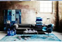 BLUE / Blue Interior inspiration.  A combination of styles, genres and shades to provide ideas and inspiration for your home and beyond.