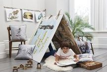 Barker & Barker Kids / The new and exciting children's collection from Barker & Barker. Based on the illustrations taken from children's book 'Eddie Meer Barter in the Bush', the collection includes charming cushions and posters to compliment the book. Available in a range of fun and charming designs, the fun and fabulous textiles and accessories will provide children's rooms with a playful update.  The collection also features fabrics from previous collections that are suitable for children's bedrooms and nurseries.
