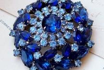 BLUE in GLASS, GEMS, JEWELS