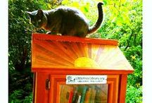 Libraries for Animal Lovers / Little Libraries aren't just for people - many come with treats and books for our four-legged friends, too! www.littlefreelibrary.org / by Little Free Library
