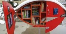 Architecturally Awesome Libraries / These Library craftsmen have outdone themselves with beautiful and surprising designs. www.littlefreelibrary.org