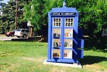Tardis and Dr. Who Libraries / Because Libraries are bigger on the inside... www.littlefreelibrary.org / by Little Free Library