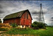 Old Farm Houses ♥ Barns ♥ Cottages / This board is a collection of old farm houses, barns and cozy cottages. I am also including close up views of house & barn windows. / by Sheepscot River Primitives