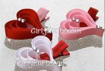 자료모음 / handmade ribbons. hair bows