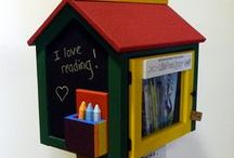 Libraries We Sell / Hand-crafted, weatherproof and beautiful Little Libraries that would be perfect in your neighborhood. Need a gift for the book lover in your life? Look no further.  / by Little Free Library