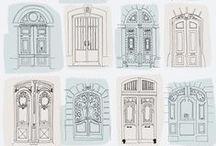 Doors, doorways, arcs,facades and gates.