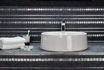 Metallic Mosaics / Jasba's mosaic series includes a beautiful selection of decorative metallic mosaics designed to create a jeweled finish to any bathroom or feature wall.