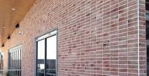 Brick Slips / MAKE A NATURAL LASTING IMPRESSION, WITH BRICK SLIPS. Where design meets function.  Better than traditional brickwork.  Available in a variety of textures, this slim line, subtly balanced brick slip is charmingly authentic, whilst being state-of-the-art. Look beyond the facade, and see design meet function. Achieve a genuine brick effect, where real brick work is impractical.