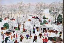 Grandma Moses / Grandma Moses (1860-1961) began painting when she was 76 years old. She captured a bygone American era and her quaint rural scenes remain popular today. In fact, one of her paintings is on display in the White House!