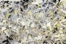 Jackson Pollock / One of the most controversial modern artists, Jackson Pollock (1912-1956) purposefully splattered paint onto large canvases to create his action paintings. His success shifted the focus of the art world from Europe to America in the late 1940s.