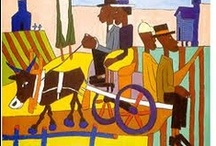 William Johnson / Known as a Harlem Renaissance painter, William Johnson (1895-1965) was a classically trained artist who chose to paint in a naïve style using only four or five colors. His scenes often depict African-American experiences.
