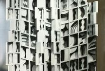 Louise Nevelson / A pioneer of recycling, Louise Nevelson (1899-1988) often used discarded, or found objects, to design her abstract sculptures and assemblages.