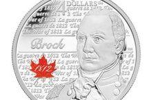 La guerre de 1812 /  Le 18 juin 1812, les États-Unis déclarent la guerre à la Grande-Bretagne. C'est alors le début de deux années intenses de combats au cours desquels les forces de l'Amérique du Nord britannique mènent une lutte acharnée pour préserver le mode de vie du Canada de demain. En hommage au courage des héros de cette guerre, la Monnaie a créé cinq pièces de circulation pour commémorer ces moments déterminants de notre histoire. / by Monnaie royale canadienne