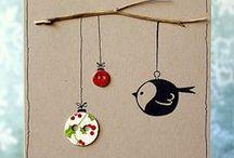 Karácsonyi képeslapok és kísérő kártyák