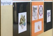 """.""""il tatuaggio"""" / progetto di potenziamento di Discipline Pittoriche.Classi coinvolte: ICL e 2AL.Docente:Valeria Pappalardo"""