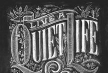 Pizarras / tipografias letreros, pizarras e inspiracion