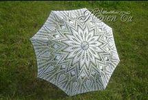 My Crochet Umbrellas. / Вязаные зонты. Мои работы / Only my work!