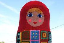 Yarnbombing in Krasnoyarsk / Ярнбомбинг в Красноярске. Проекты, в которых я принимала участие Yarnbombing in Krasnoyarsk. Projects in which I participated