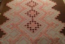 Hardanger/broderi - Jeg har lagd / made by me -embroidery/hardanger