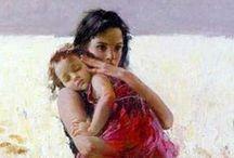 Ζωγραφική - Μητέρα και παιδί