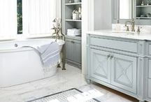 New Bathroom Design Trends / Beautiful new bathroom design trends from flooring to showers to fixtures.
