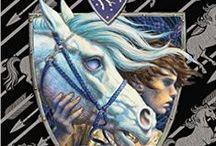 Books by Mercedes Lackey - Valdemar universet / Se egne album for resten av bøkene til ML. - ingen har, E Eva, IL..., O Omnibus, S Short Story, l lest