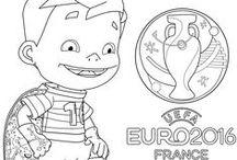 Euro 2016 / Coloriages des logos de l'Euro 2016