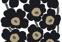 Marimekko Telas / Marimekko es una marca Finlandesa que desde principios de los 50´ha deleitado con sus increíbles patrones... OLIKA los representa en Chile