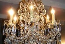 Love Chandeliers and Mirrors  / Just my personal taste from wow to pretty