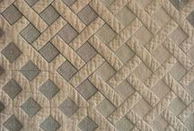 Hand and machine quilting examples