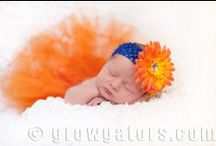 Gator Baby Photography / Ideas on how to infuse some Gator love into your new addition's photos!