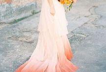COLORED DRESSES / Unique colored wedding dresses for the non traditional bride.