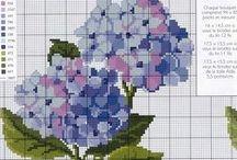 cross stitch flowers roses / en sevdiklerim