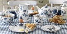 The Vintage Indigo Collection - Katie Alice / Products and inspiration from the Vintage Indigo collection by Katie Alice. This blue and white collection is inspired by traditional ceramics, and particularly by the blue and white tiles that Katie saw in Rembrandt's house on a trip to Amsterdam. The vintage roses with an addition of navy gingham give this collection a classic feel but with a fresh new twist.