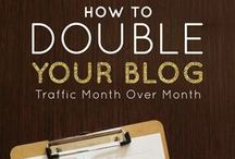 Improving Blog Traffic / How to increase your blog traffic - including social media hints and tips, facebook groups, link parties, photo sharing websites