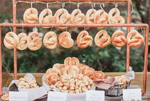FOOD BARS / Tasty treats for your wedding reception displayed in fun and unique ways. The perfect way to take care of your wedding guests and show them that you care.