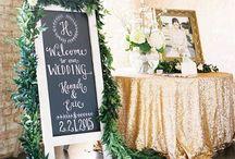 GOLD WEDDINGS / Splashes of gold wedding splendour. Gilded gold wedding cakes and wedding details. Wedding crowns and gold wedding shoes fit for a queen.
