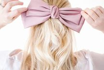 BOWS / Feminine wedding details featuring ribbons bows made from the prettiest fabrics.