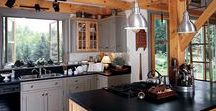Timber Frame Kitchens / Find your dream timber frame kitchen here from our home tours so you can draw upon different inspirations for your own design.