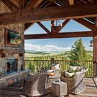 Timber Frame Outdoor Spaces / Explore porches, al fresco dining, decks and more with this timber frame outdoor spaces to spark your inspiration for your own home.