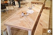 Tables (&benches) by RE-seat / Some of the tables & benches we've made - all from reclaimed wood