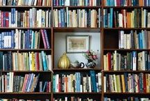 Book Walls - Inspiration - Library / Walls of books. Inspiration library decor.