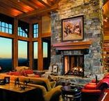 Timber Frame Fireplaces / Choose a timber frame fireplace that wows your guests, but is still comfortable and efficient.