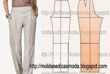 Spodnie - wykrój