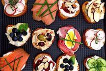 Lunch / Crostini, bruschetta, toast
