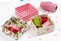 Paper Crafts (not cards) / Paper craft inspiration (not cardmaking) - tutorials, scrapbooking inspiration, origami, paper decorations