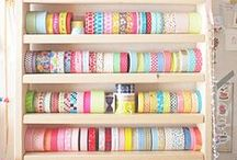 Craft Room Organization / Inspiration for craft rooms, storage ideas and stall displays.